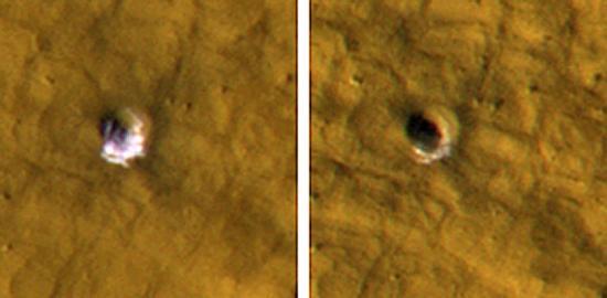 На Марсе обнаружен лед в широтах близких к экватору