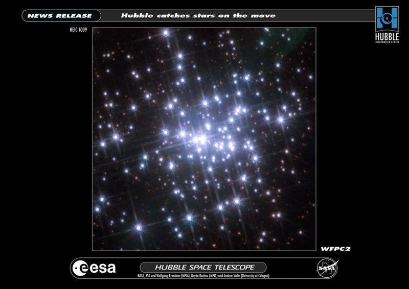 Телескоп Хаббл запечатлел движение звезд в NGC 3603