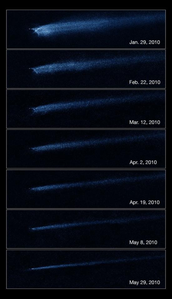 Наблюдения за столкновением объекта P/2010 A2