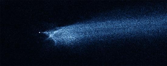 Астрономы проследили за развитием столкновения двух астероидов