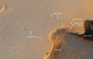 'Opportunity' у края кратера 'Victoria'