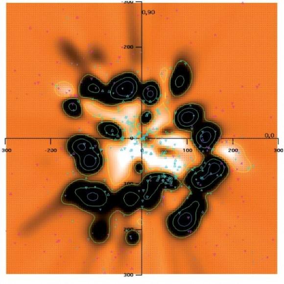 Локальный межзвездный газ на карте 3D