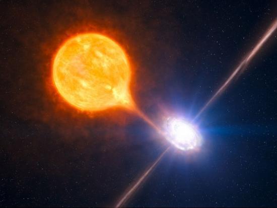 Черная дыра надула огромный пузырь