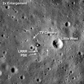Посадочная площадка Аполлона 11 от LRO
