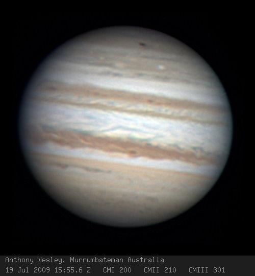 Новое пятно на Юпитере