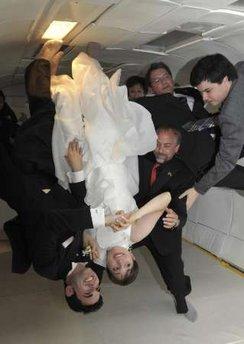 Первая космическая свадьба в невесомости