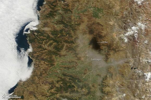 Карты землетрясения в Чили