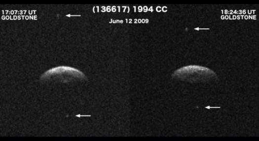 Обнаружена тройная система — астероид с двумя спутниками