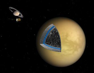 Выявлена смесь льда и камня в недрах Титана