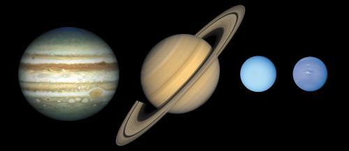 Размеры газовых планет