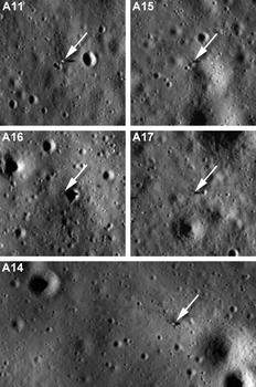 фотографии мест посадок Аполлонов