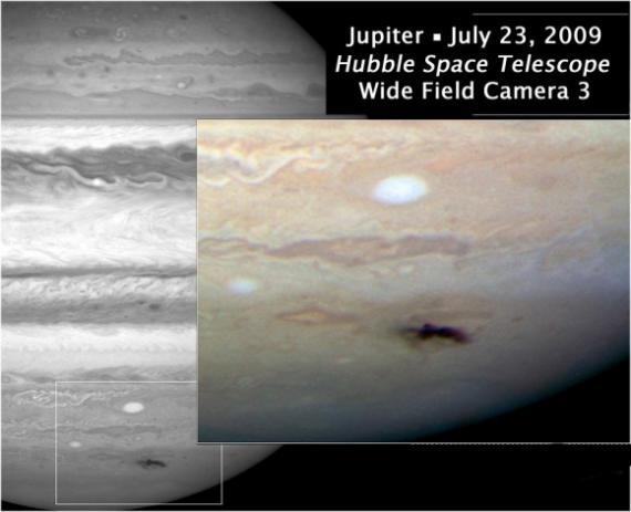 Фотография пятна Юпитера от телескопа Хаббл