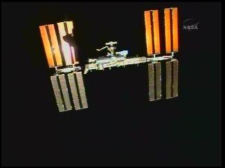 отделение шаттла от МКС - STS-127