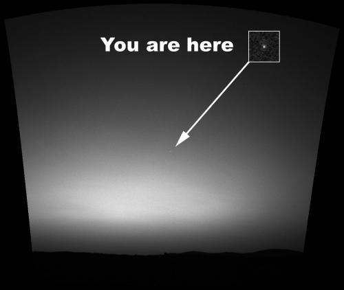 Фото Земли с Марса