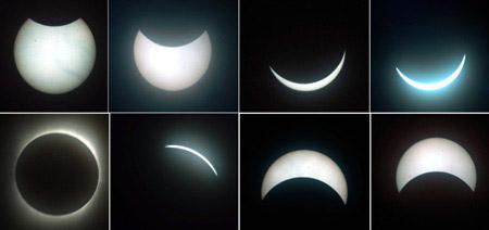 Фазы затмения солнца 22 июля 2009 года