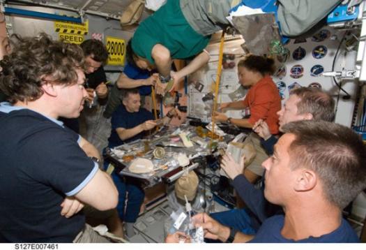 Время обеда на МКС - STS-127