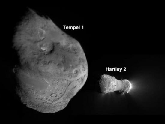 Кометы Хартли 2 и Темпл 1 в сравнении