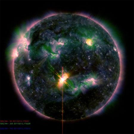 Самая мощная вспышка в текущем солнечном цикле
