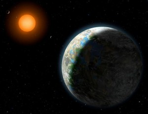 Художественное представление планеты Gliese 581g