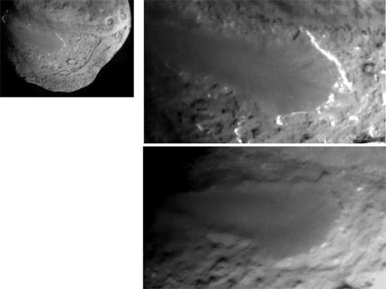 Изменения на поверхности кометы