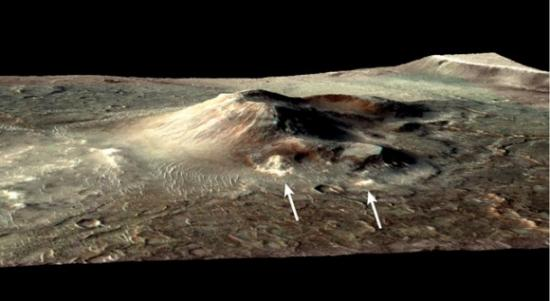 Древний горячий источник обнаружен на Марсе