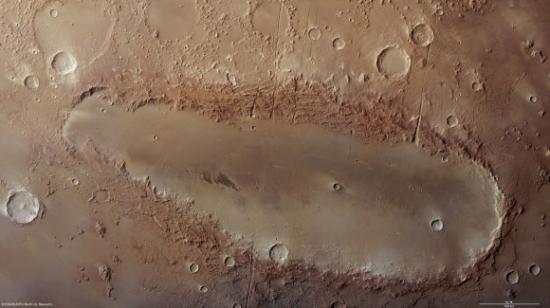 Кратер Orcus Patera на Марсе