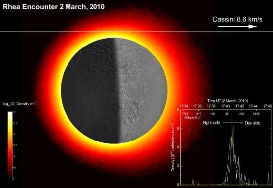 Около Реи найдена тонкая кислородная атмосфера
