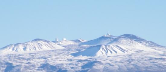 Обсерватория Мауна-Кеа - вид с вертолета