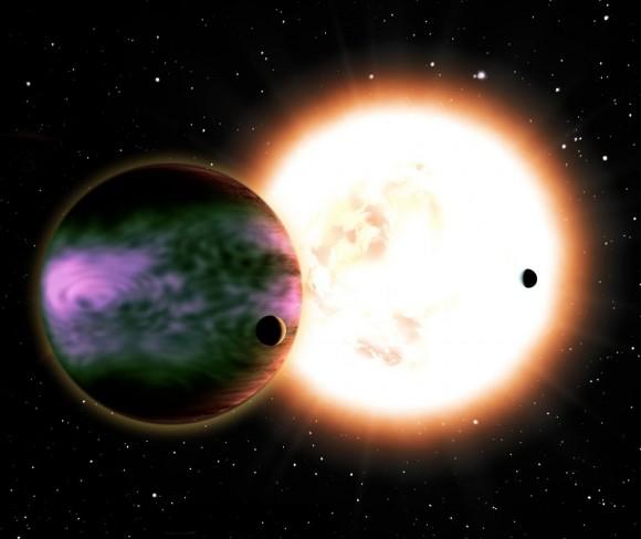 Северное сияние на экзопланетах