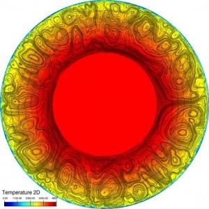 Модель обмена теплом атмосферы и поверхности Венеры