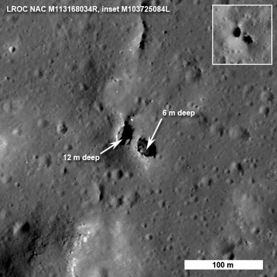 Лунный разведчик обнаружил на Луне мосты