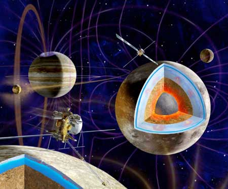 Новейшая миссия к спутникам Юпитера