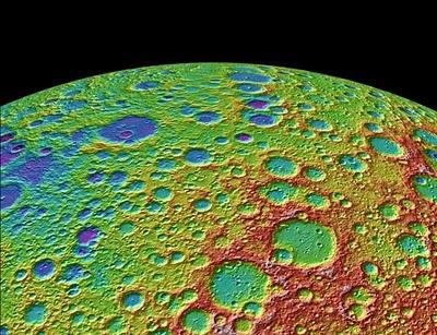 Карта лунных кратеров
