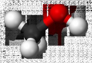 Схема молекулы метанола