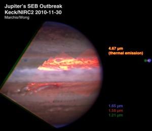 Составное изображение Юпитера