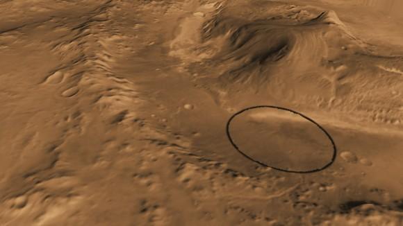 Ровер «Любопытство» начнет миссию в кратере Гэйла