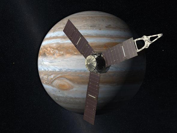 Ракета-носитель с зондом «Юнона» установлена на стартовой площадке