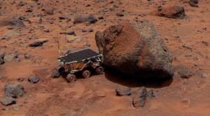 Марсианский ровер использует свой спектрометр