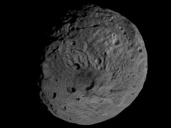 Вращение астероида Веста (видео)