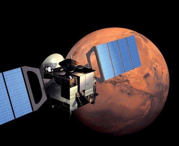 Марсианская атмосфера перенасыщена водой?