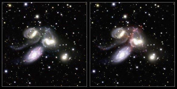 Квинтет Стефана исследован телескопом «Субару»