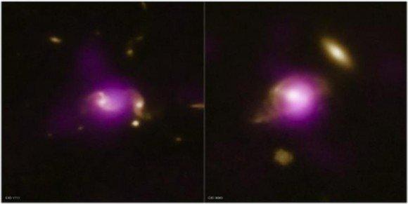 Два примера парных галактик из обзора COSMOS