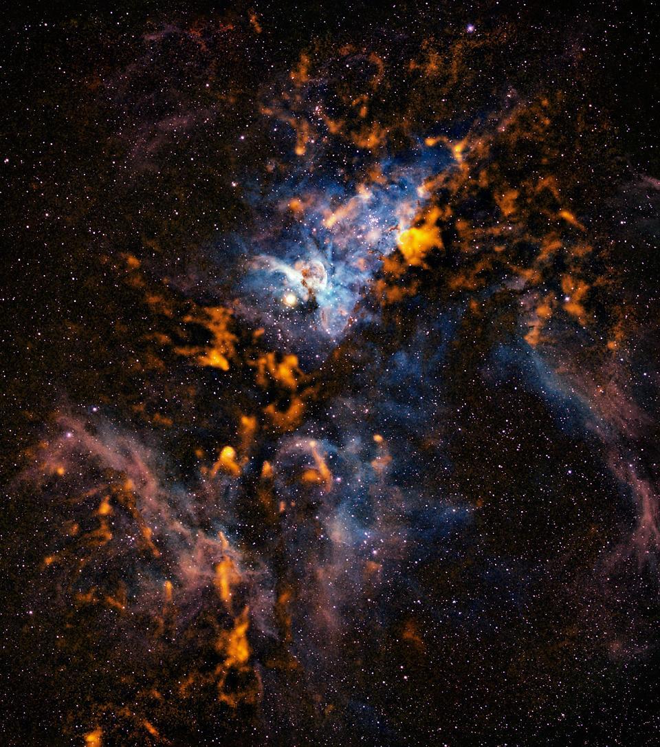Астрономы собрали данные по «холодным» облакам в туманности Киля