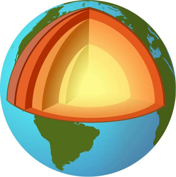 Внешнее ядро Земли лишено кислорода