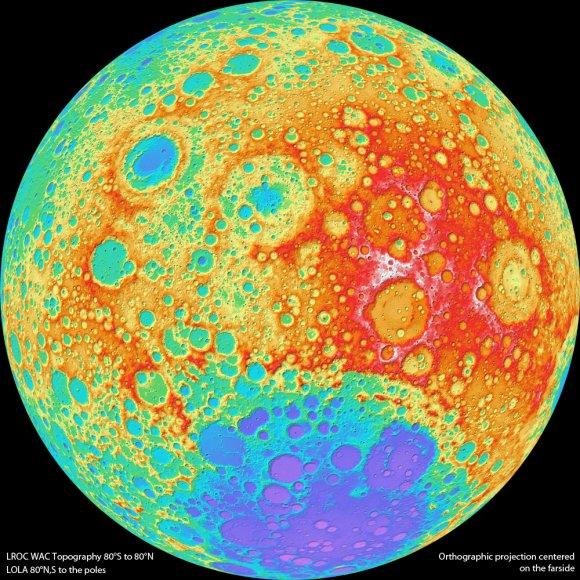 Первая версия топографической карты Луны
