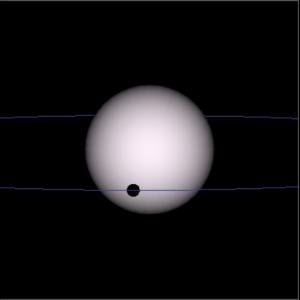 Орбита экзопланеты WASP 14b