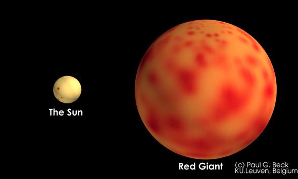 Астрономы открыли быстрое вращение ядра внутри старых звезд