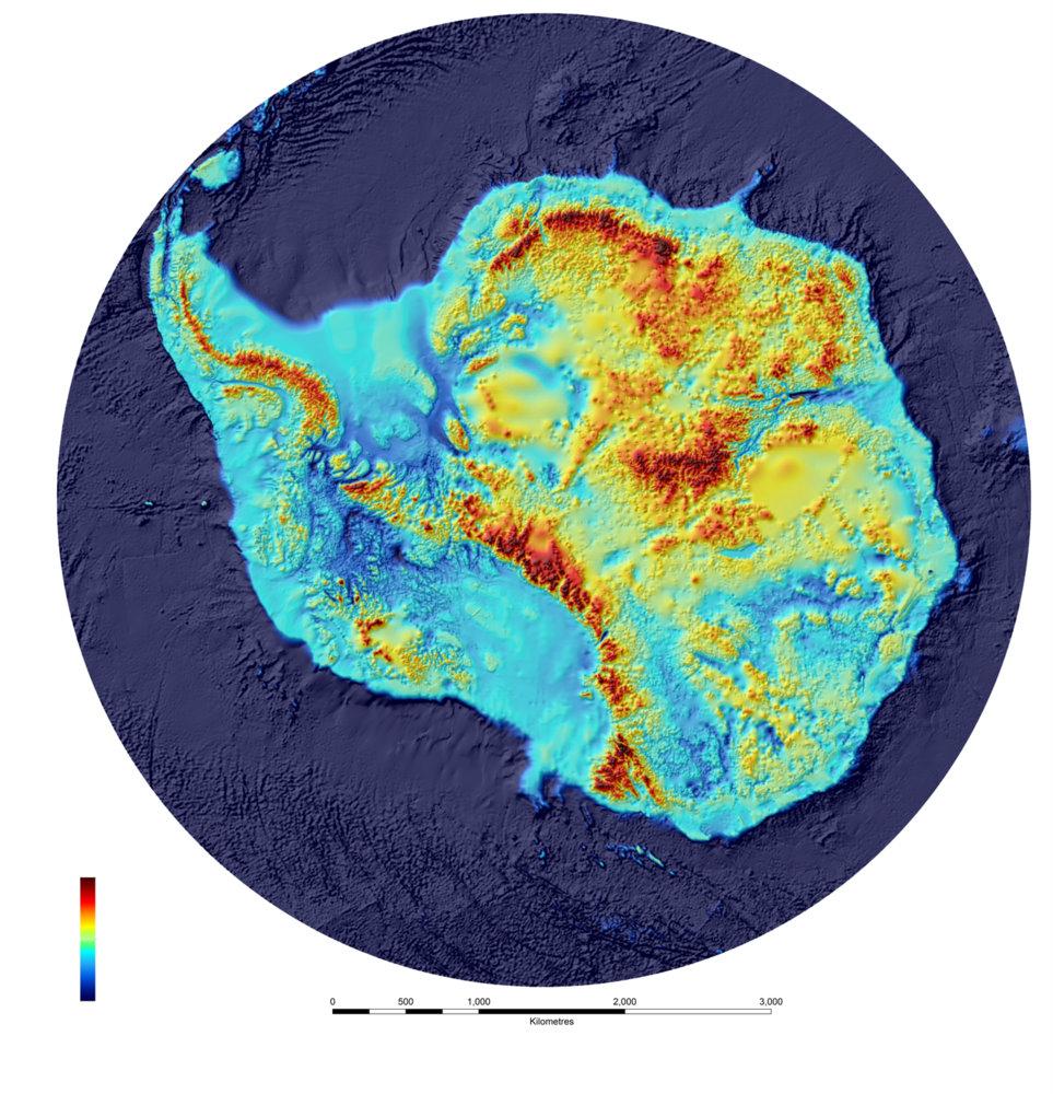 Новая карта Антарктиды показывает, что находится подо льдом