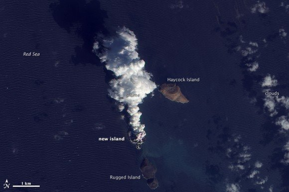 Извержение вулкана создало новый остров