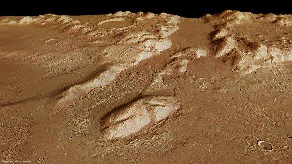Марс-Экспресс возможно открыл Марсианский ледник